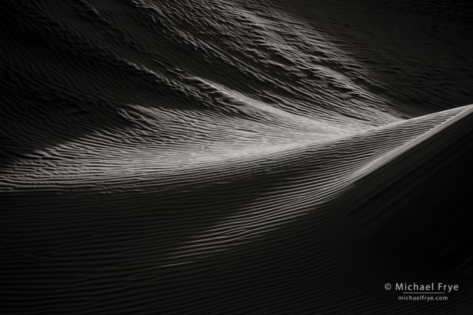 Practicing Compositional Skills using Abstract Vision: Dune textures, Mesquite Flat Dunes, Death Valley NP, CA, USA