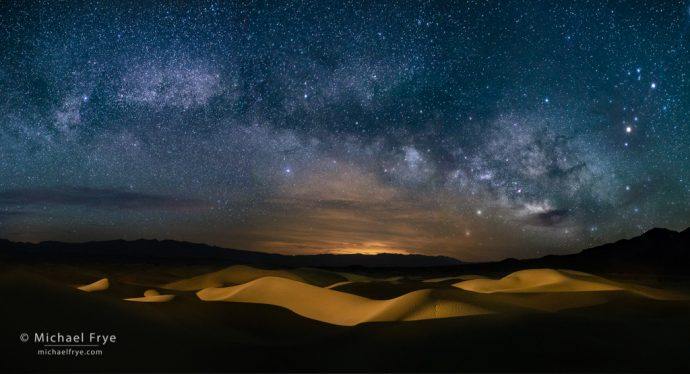 Milky Way over the Mesquite Flat Dunes, Death Valley NP, CA, USA