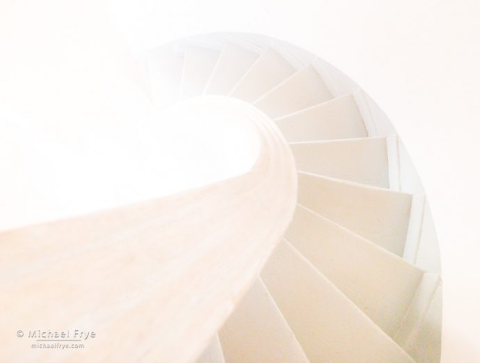 Stairway, Point Pinos Lighthouse, Pacific Grove, CA, USA