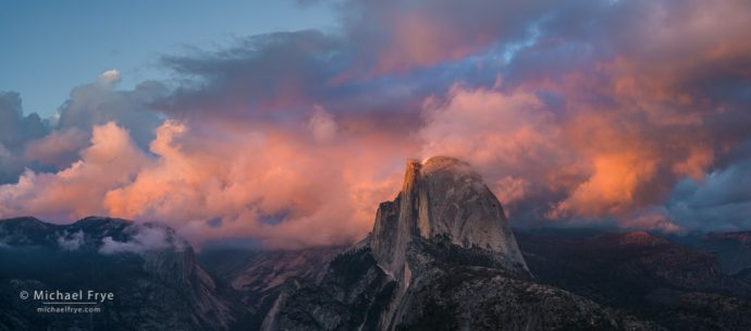 Sunset panorama from Glacier Point, Yosemite NP, CA, USA