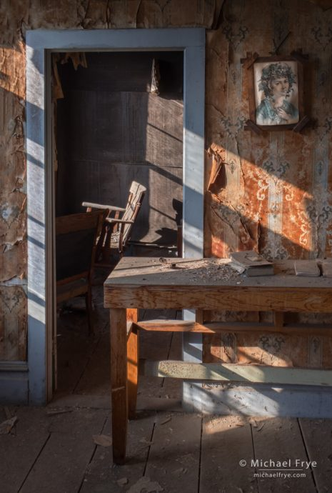 Sunlight in the morgue, Bodie SHP, CA, USA