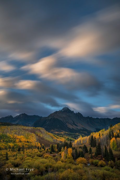 Mt. Sneffels at sunrise, Uncompahgre NF, CO, USA