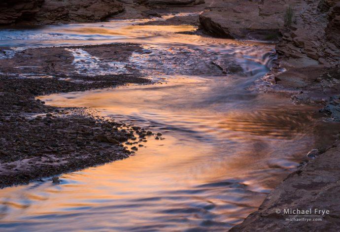 Zigzag creek reflections, Utah, USA