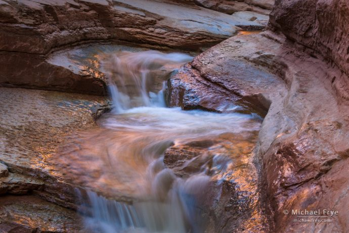 Tiered cascades, Utah, USA