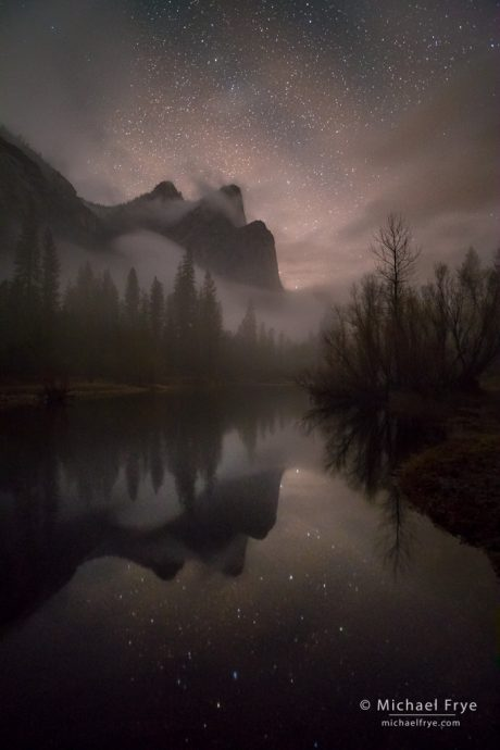 1. Three Brothers at night, Yosemite