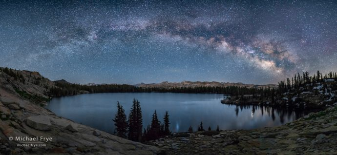 16. Milky Way over a high-country lake, Yosemite