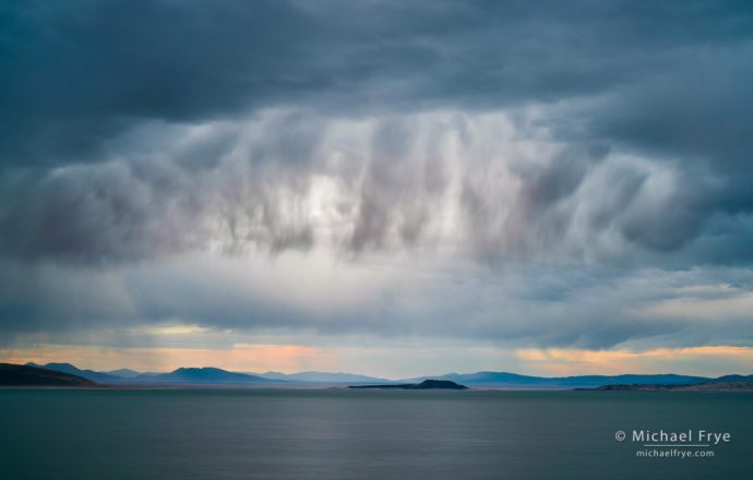 23. Storm clouds over Mono Lake, California