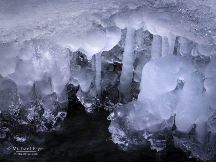 34. Ice formations, Tuolumne River, Yosemite