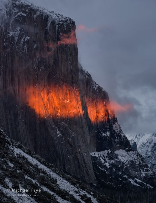 El Capitan at sunset, Yosemite NP, CA, USA
