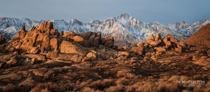 Lone Pine Peak and Mt. Whitney from the Alabama Hills, CA, USA