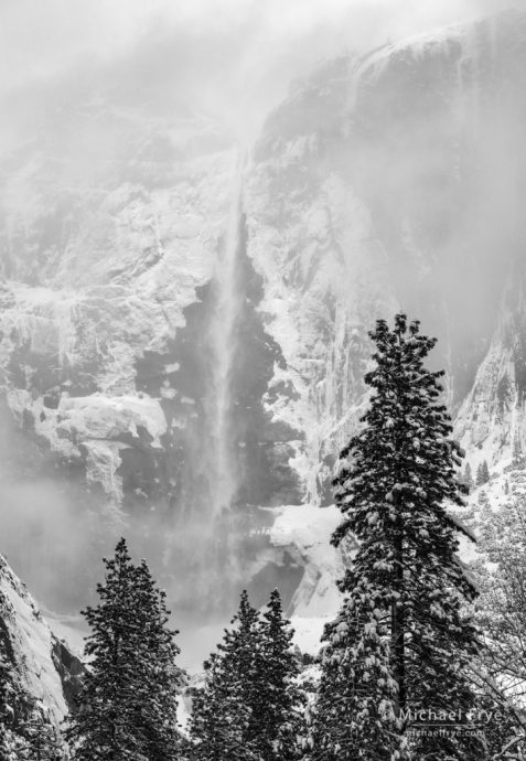 Upper Yosemite Fall in winter, Yosemite NP, CA, USA