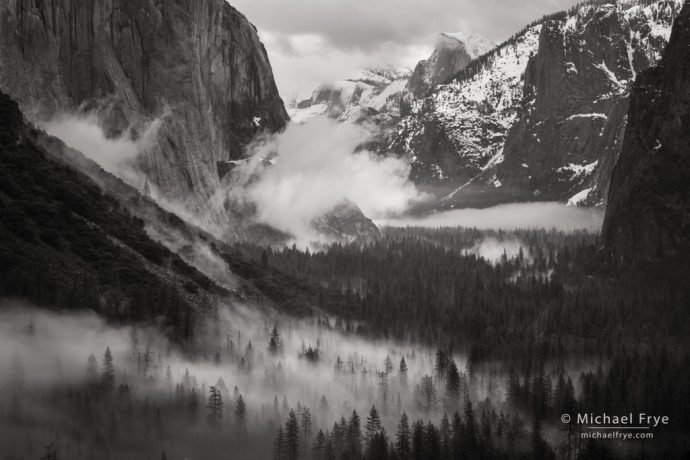 Misty Yosemite Valley, Yosemite NP, CA, USA