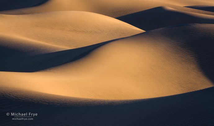 Dune forms, Death Valley NP, CA, USA