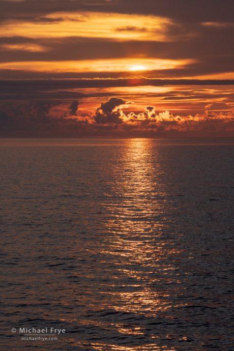 Sunset over the Pacific Ocean, Oregon coast, USA