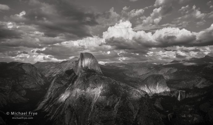 Stormy afternoon at Glacier Point, Yosemite NP, CA, USA