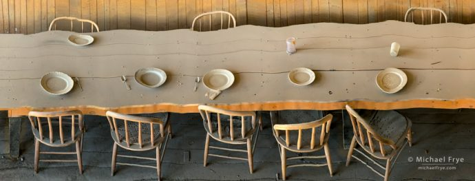 Table panorama, Bodie SHP, CA, USA