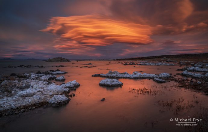 Lenticular Cloud over Mono Lake