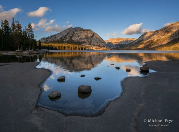 Autumn afternoon at Tenaya Lake, Yosemite NP, CA, USA