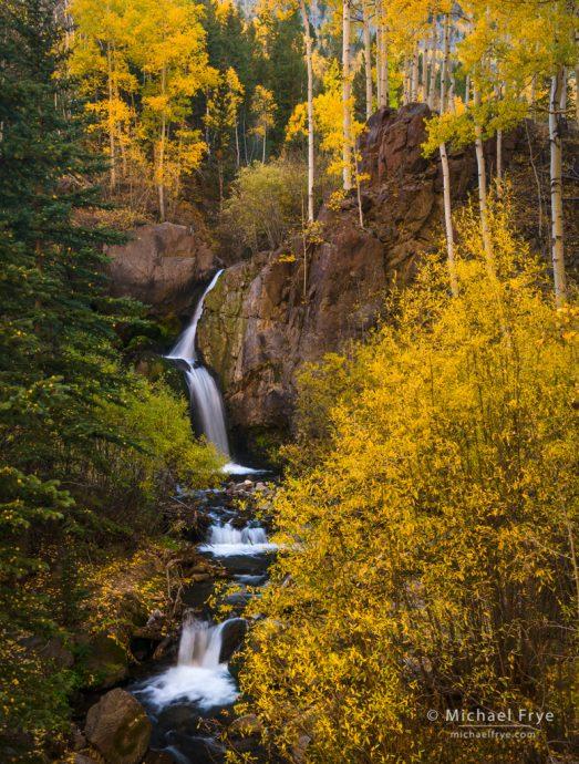 30. Autumn waterfall, Colorado