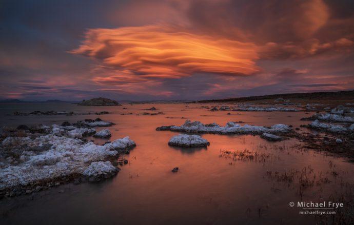 31. Lenticular cloud at sunset, Mono Lake, California