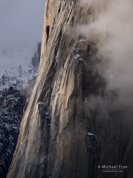 35. Cliffs, mist, and snow, Yosemite NP, California