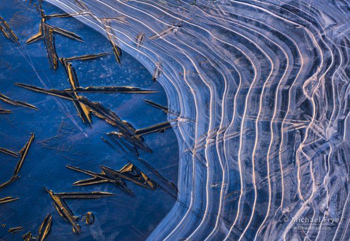 Ice patterns, Yosemite NP, CA, USA