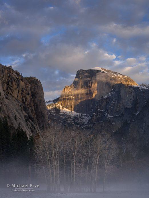 Half Dome, winter sunset, Yosemite NP, CA, USA