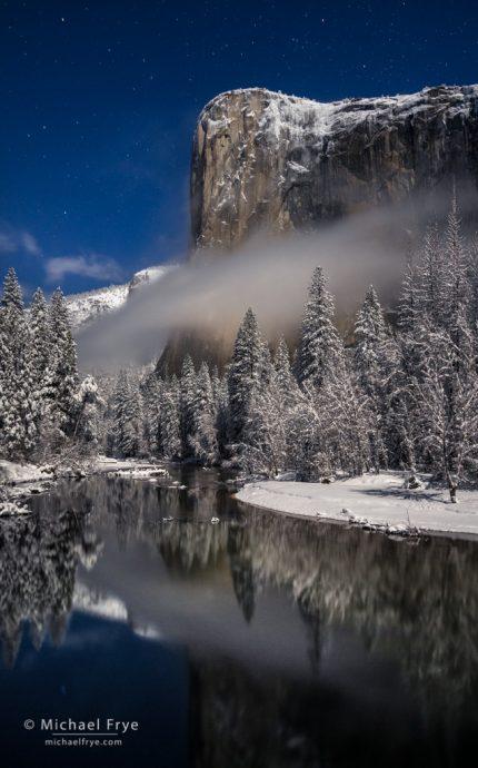 8. El Capitan by moonlight, winter, Yosemite NP, California