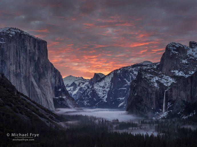 10. Sunrise from Tunnel View, Yosemite NP, California