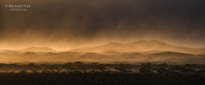 13. Sandstorm, Mesquite Flat Dunes, Death Valley NP, California