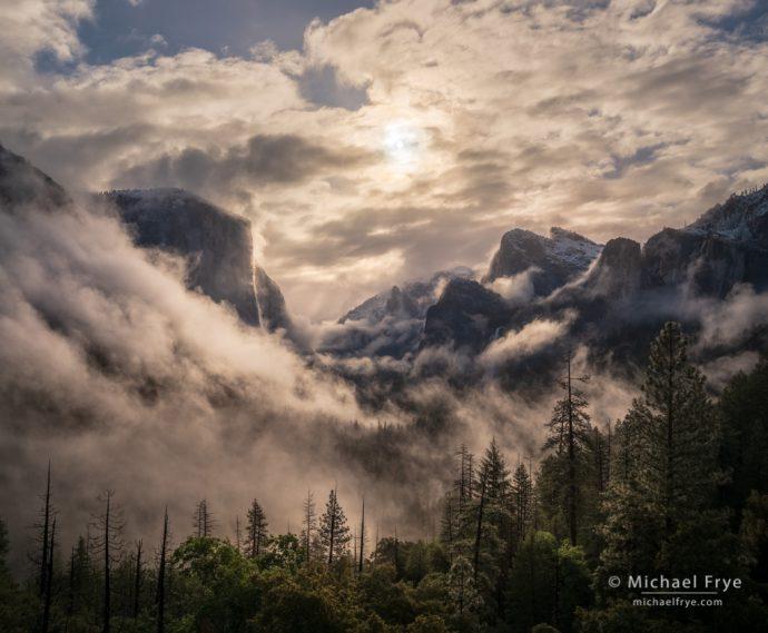 20. Swirling Clouds and Mist, Sunrise, Yosemite NP, California