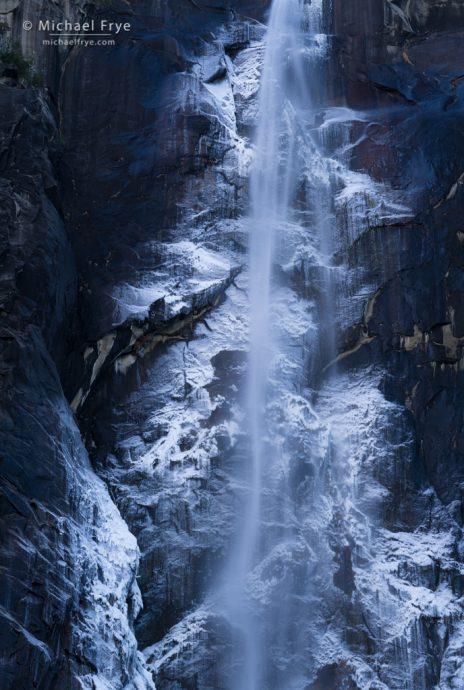 Ice alongside Bridalveil Fall, Yosemite NP, CA, USA