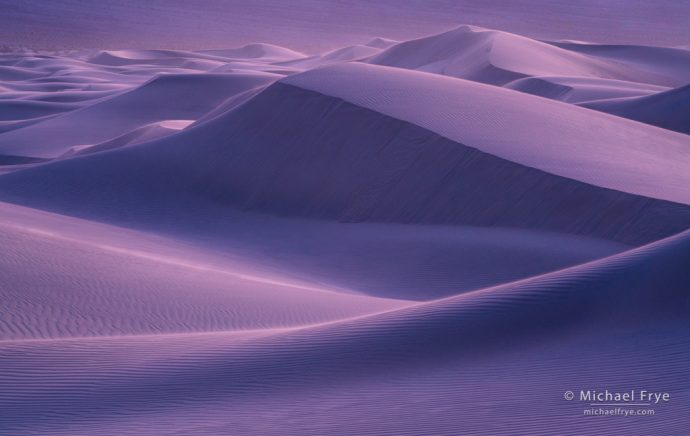 Sand dunes at dusk, Death Valley NP, CA, USA