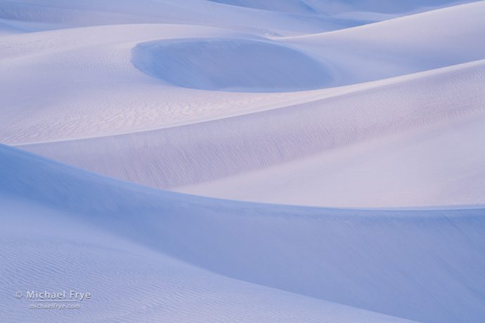 Blue dunes, Death Valley NP, CA, USA