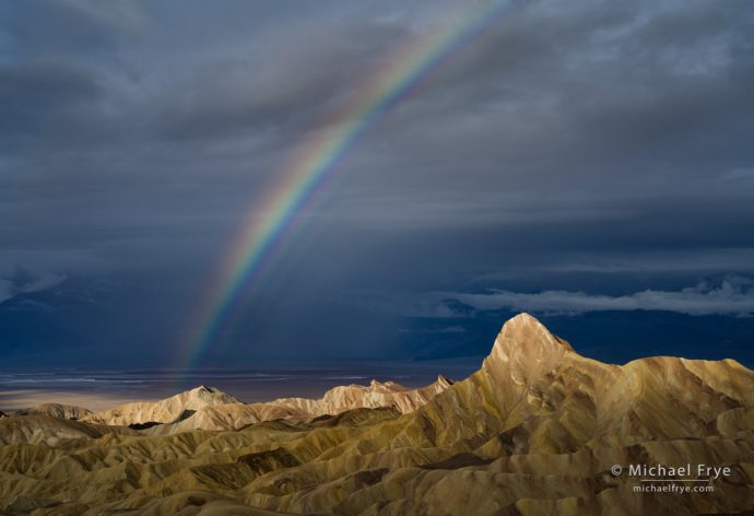 Rainbow and Manly Beacon, Death Valley NP, CA, USA