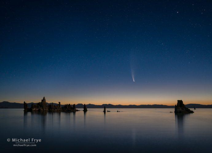 Comet NEOWISE over Mono Lake, CA, USA