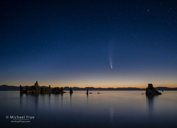Comet NEOWISE over Mono Lake, CA, USA