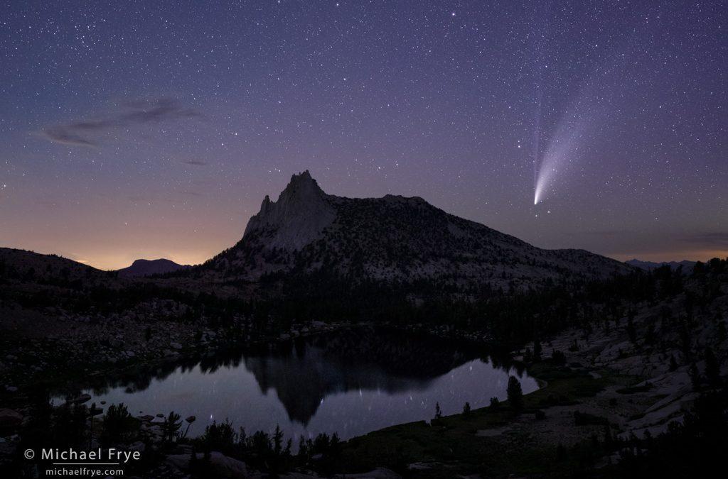 Comet Over an Alpine Lake