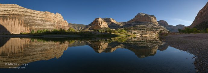 Confluence of the Green and Yampa Rivers, Dinosaur National Monument, Colorado, USA