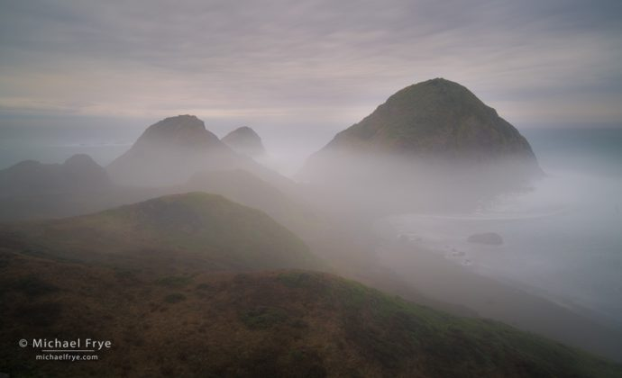 Fog and rocks, Oregon Coast, USA