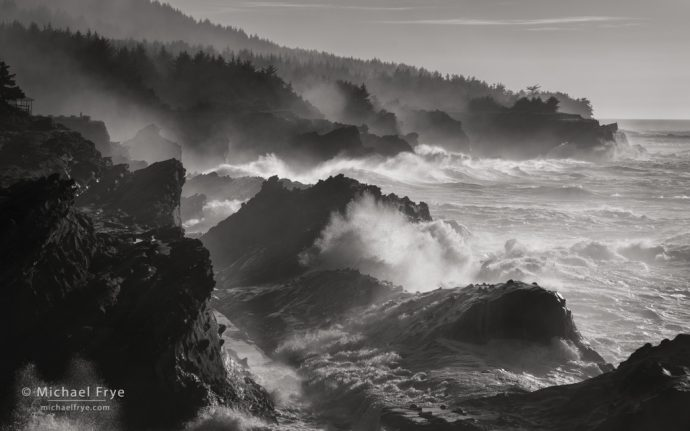 Churning ocean, Oregon Coast, USA