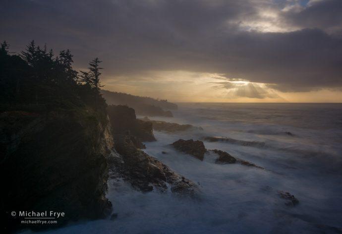 Sunbeams, Oregon Coast, USA