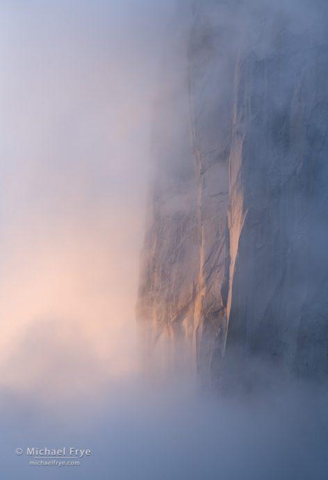 Granite and mist at sunset, Yosemite NP, CA, USA
