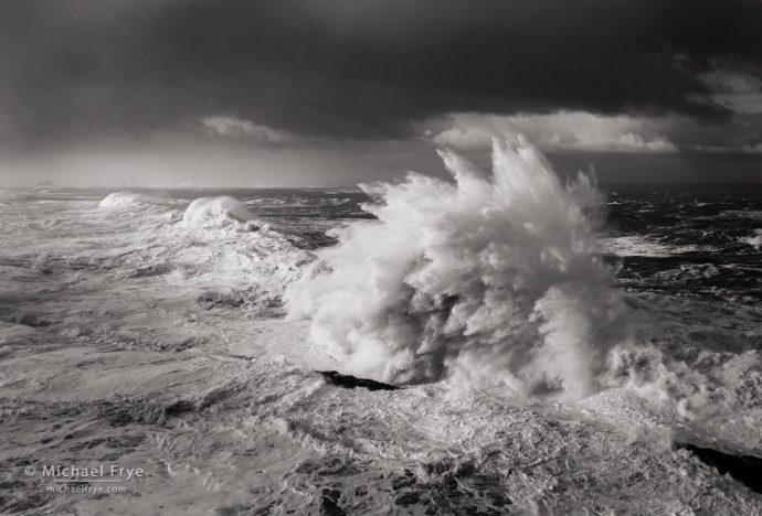 Waves and storm clouds, Oregon Coast, USA