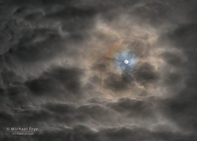 Moonlit clouds, Sierra Nevada, CA, USA