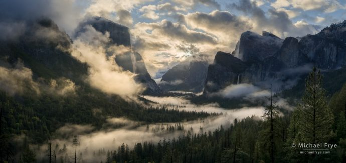Clearing spring storm, Tunnel View, Yosemite NP, CA, USA