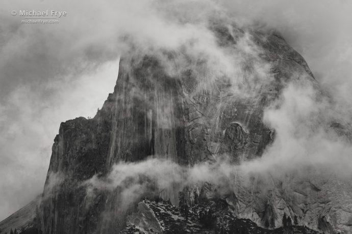Half Dome and mist, Yosemite NP, CA, USA