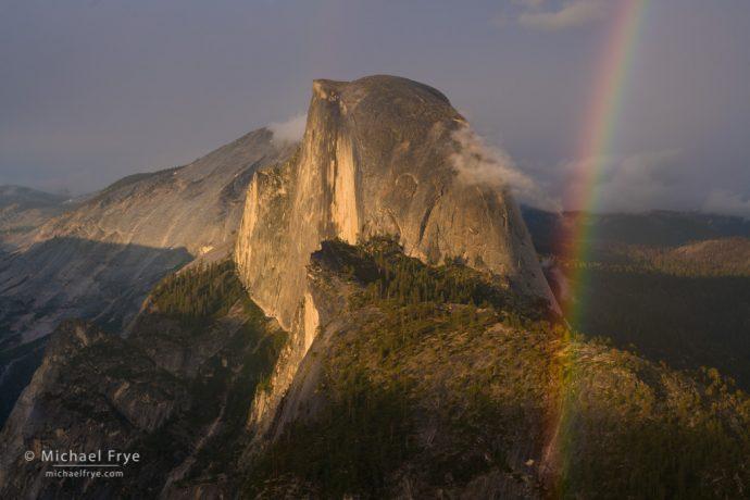 Half Dome and rainbow from Glacier Point, Yosemite NP, CA, USA