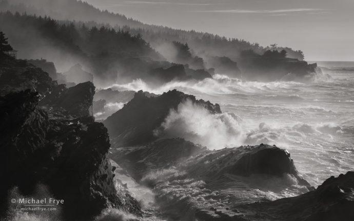 Churning ocean, Oregon Coast, USA