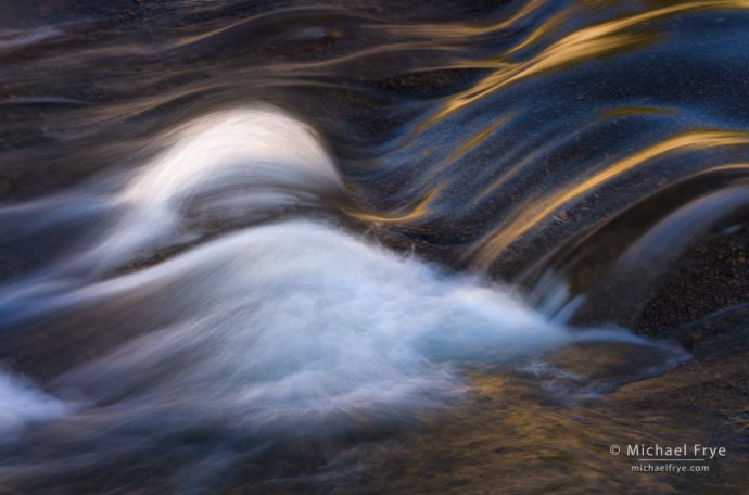 Cascade and reflections, Tuolumne River, Yosemite NP, CA, USA